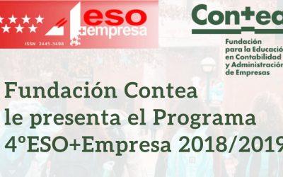 La Fundación Contea le presenta el Programa 4ºESO+Empresa 2018/2019