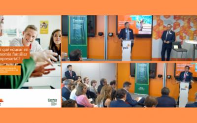 Presentación del estudio «¿Por qué educar en economía familiar y empresarial?. Informe sobre la educación económico-financiera en las aulas españolas»