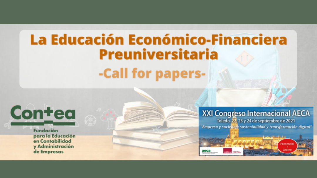 Call for papers «La Educación Económico-Financiera Preuniversitaria»