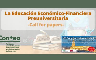 Call for papers «La Educación Económico-Financiera Preuniversitaria»