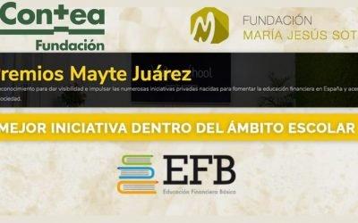 El Proyecto «Educación financiera básica en las aulas», de la Fundación María Jesús Soto, Premio Mayte Juárez 2021 a la mejor iniciativa en el ámbito escolar